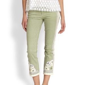 Tory Burch Mia Slim-Fit crop Jeans